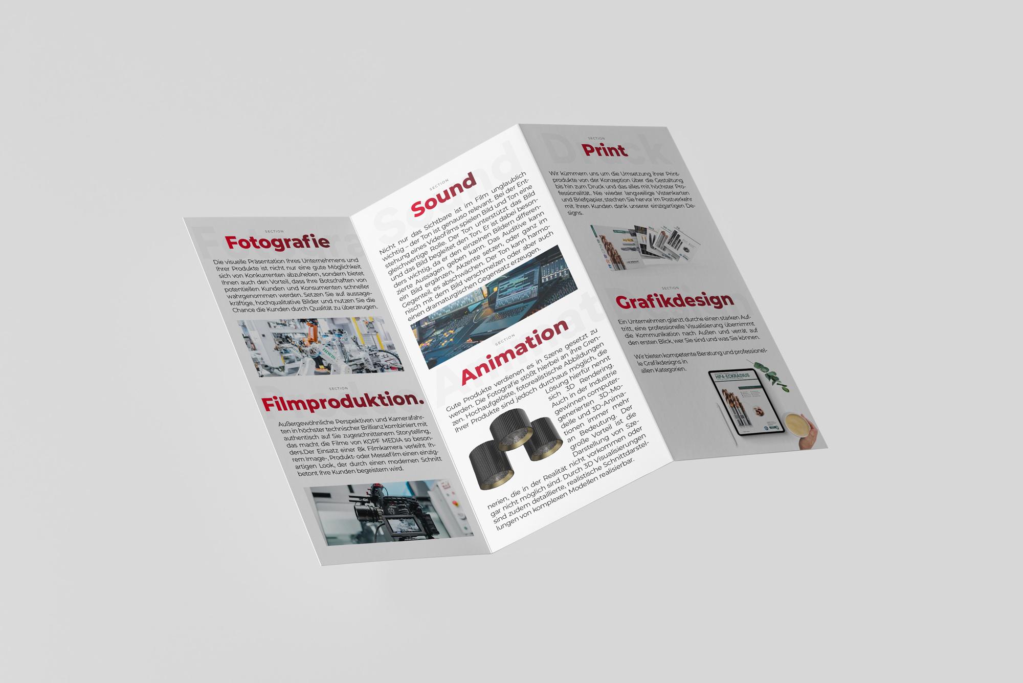 kopfmedia flyer printmedien grafikdesign