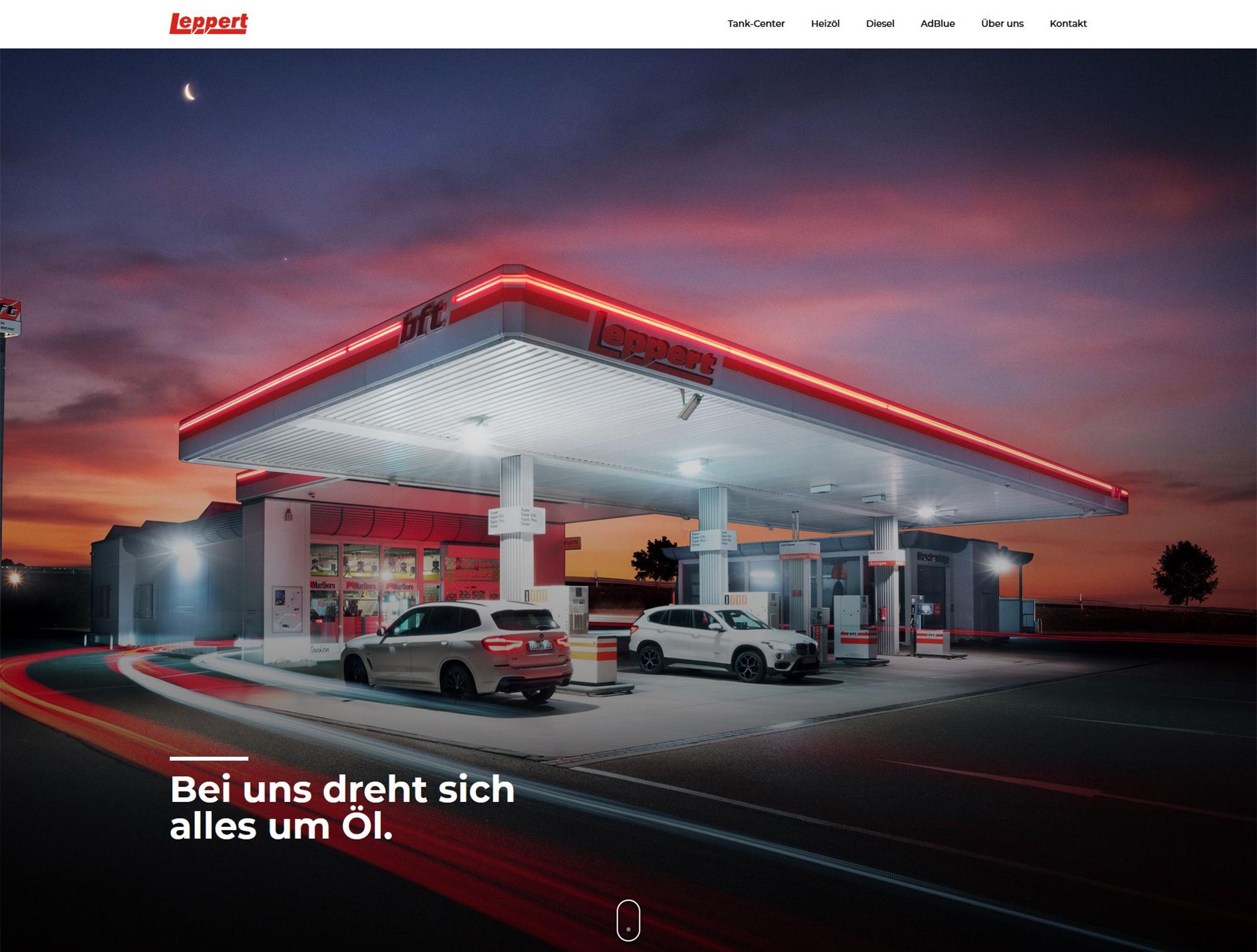 kopfmedia werbeagentur leppert mineraloele website homepage