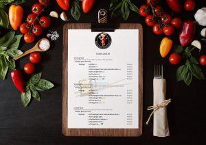 Kopfmedia Restaurant der Kulturen Speisekarte Grafikdesign